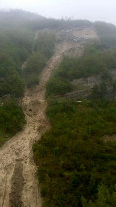 La frana tra Verghereto e Bagno di Romagna-2