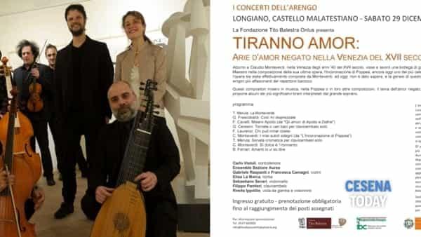"""I concerti dell'Arengo: """"Tiranno amor"""", arie d'amor negato nella Venezia del Seicento"""