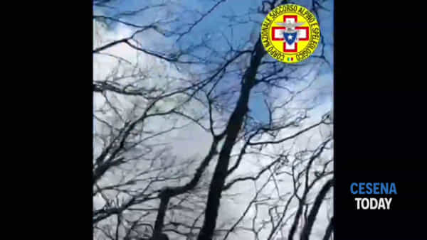 Ciclista cade per 30 metri in un canalone: le immagini dei soccorsi con l'elicottero