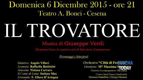 """""""Il trovatore"""" al teatro Verdi di Cesena"""
