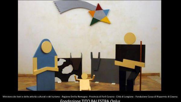 Il presepe geometrico di Lucio Del Pezzo in mostra