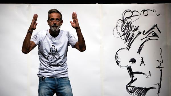 """Andrea Santonastaso porta in scena i fumetti e le storie di """"Paz"""""""