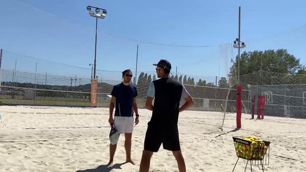 """'Match' tra il sindaco e il campione di beach tennis: """"Ci sentiamo professionisti a tutti gli effetti"""""""